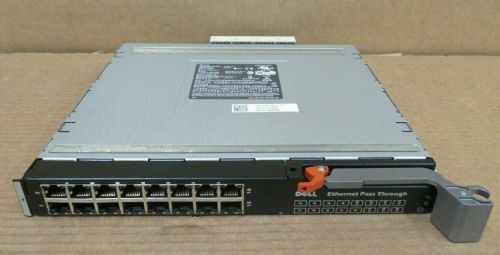 Dell 10G-PTM 10GBE 16-Port RJ45 Ethernet Pass Through Module for M1000e WW060